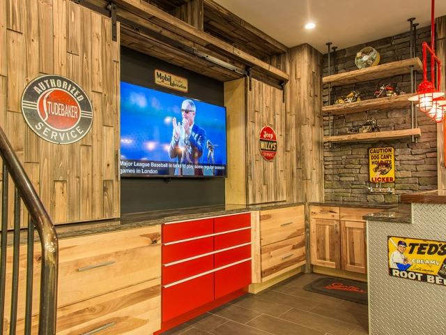 Curtis Lumber Showroom Bar with TV